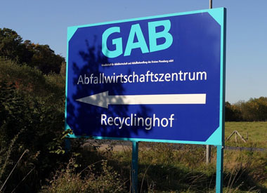 Recyclinghof_Schild